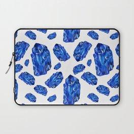 Tanzanite Birthstone Watercolor Illustration Laptop Sleeve