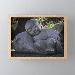 sleeping buddha Framed Mini Art Print