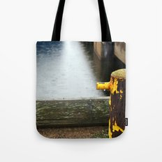 Rainy Dock Tote Bag