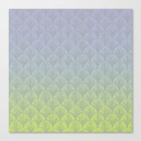 hologram Canvas Prints featuring Hologram Scales by michiko_design