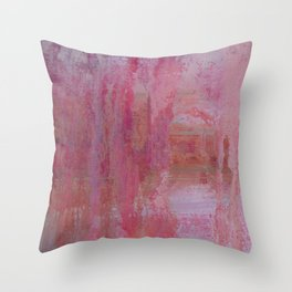 abstract river through the forest Throw Pillow