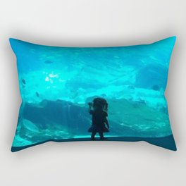 Child in the Aquarium Rectangular Pillow
