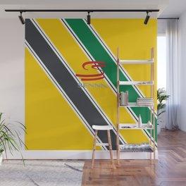 Ayrton Senna Stripes Logo Wall Mural
