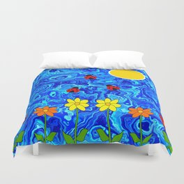 Blue Sky Summers Day Duvet Cover
