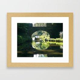 THROUGH THE BRIDGE Framed Art Print
