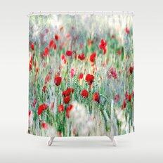 Summer Love, Poppy meadow Shower Curtain