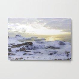 Frozen Sunrise Metal Print