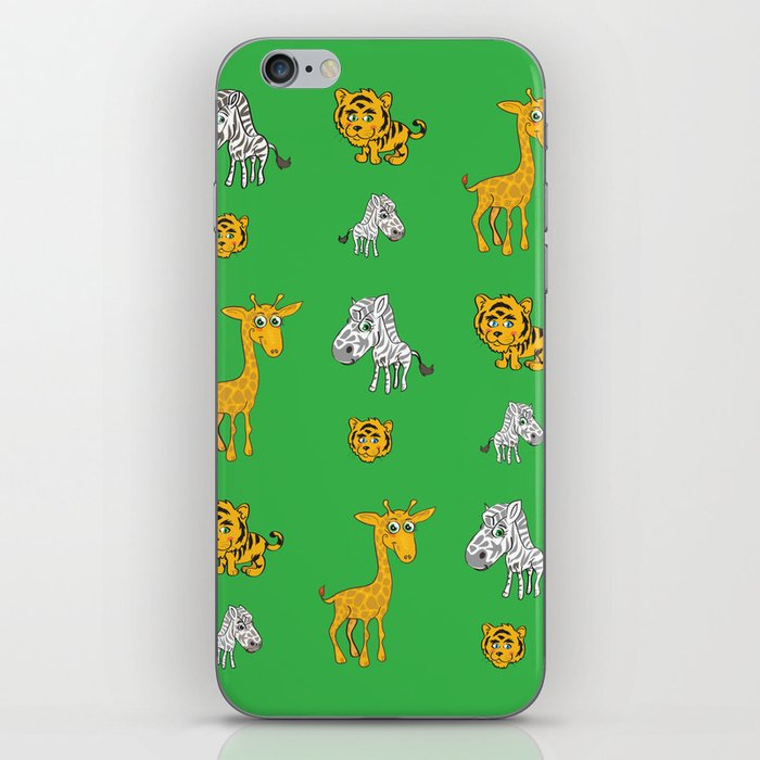 Cute Jungle Animals Pattern  iPhone Skin