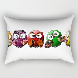 Owls Family Rectangular Pillow