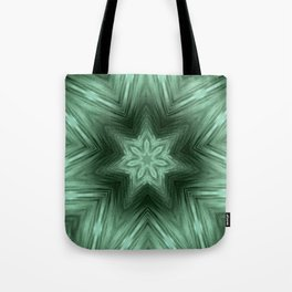Green Star Flower Blossom Metallic Color #Pattern #Background Tote Bag