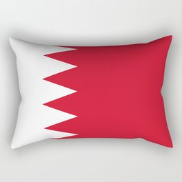 The flag of the Kingdom of Bahrain - Authentic version Rectangular Pillow