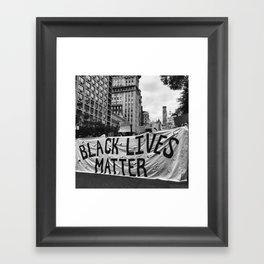 Black Lives Matter NYC 2016 Framed Art Print