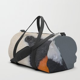 Mute Swan in Winter - CloseUp Duffle Bag