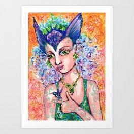 Hummingbird Goddess Art Print