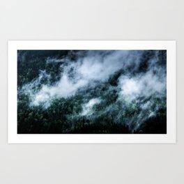 Foggy Mornings in the Mountains Art Print