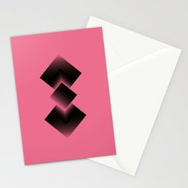 two energies pink black fold Stationery Cards
