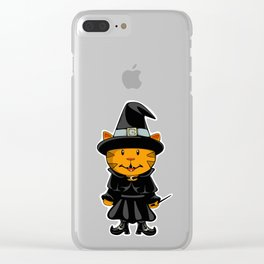 Witch Kitty Clear iPhone Case