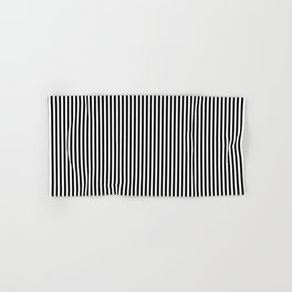 Vertical Stripes in Black and White Hand & Bath Towel
