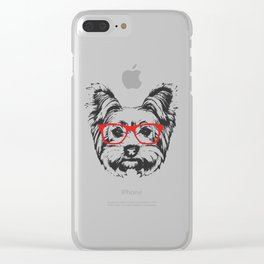 Portrait of Yorkshire Terrier Dog. Clear iPhone Case
