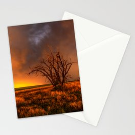 Fascinations - Warm Light and Rumbles of Thunder in Oklahoma Stationery Cards