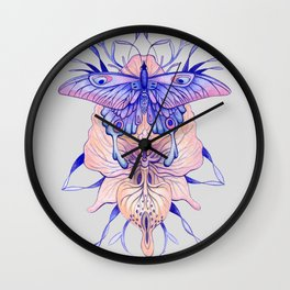 Butterfly Orchid Wall Clock