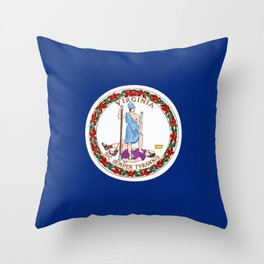 Virginia State Flag Patriotic Design Throw Pillow