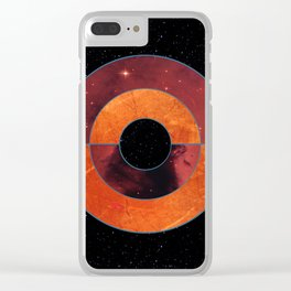 Abstract #204 The Black Hole Clear iPhone Case