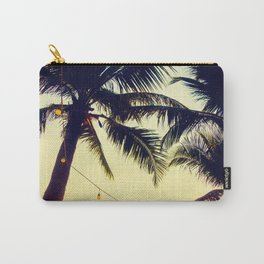 Vintage Palm trees with patio lanterns Carry-All Pouch