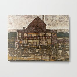 Egon Schiele - House with Shingle Roof Metal Print