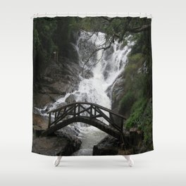 BRIDGE ACROSS Shower Curtain