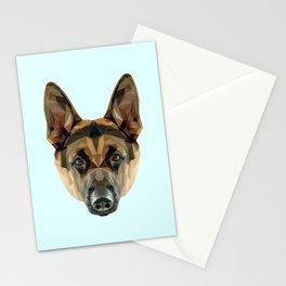 German Shepherd // Pastel Blue Stationery Cards
