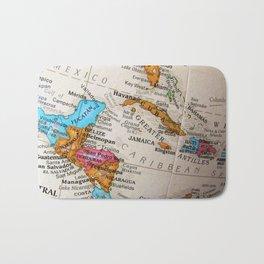 Map Art Bath Mat