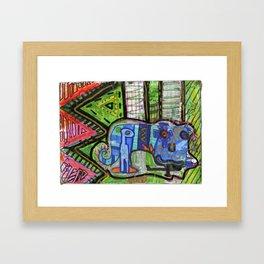 Blue Guy Framed Art Print