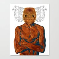 demon Canvas Prints featuring Demon by Rofi