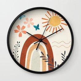Abstract Summer 3 Wall Clock