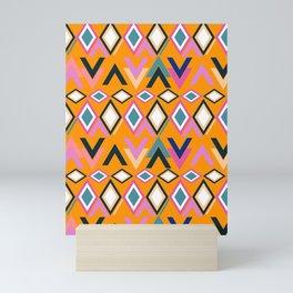 Lively shapes Mini Art Print