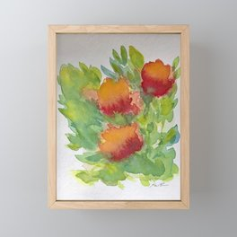 Abstracted Floral Framed Mini Art Print