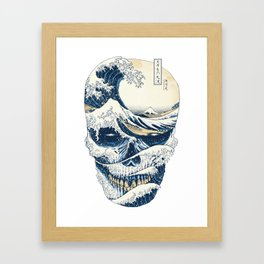 The Great Wave Off Skull Japanese Style Framed Art Print