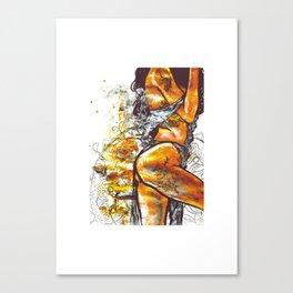 Golden goddess II Canvas Print