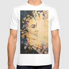 Looking to the Future -beautiful woman Mens Fitted Tee White MEDIUM