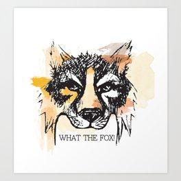 What the Fox Art Print