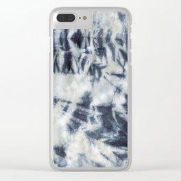 Shibori #3 Clear iPhone Case