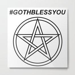 #GOTHBLESSYOU INVERSE Metal Print