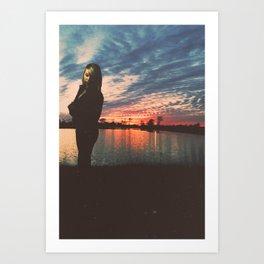 Standing by the Sun Art Print