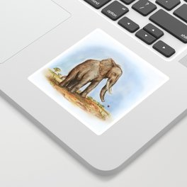 The Majestic African Elephant Sticker