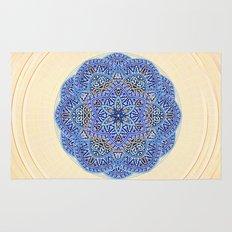 Blue Morocco Tile Mandala Rug