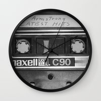 tape Wall Clocks featuring Tape by RMK Photography