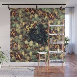 The skull, the flowers and the Snail Warm Wall Mural
