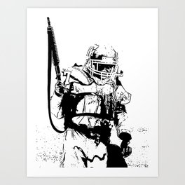 The Killing Football Fields Art Print