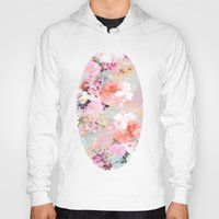 peonies Hoodies featuring Love of a Flower by Girly Trend